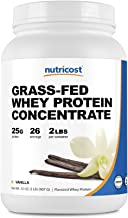 Sponsored Ad - Nutricost Grass-Fed Whey Protein Concentrate (Vanilla) 2LBS - Undenatured, Non-GMO, Gluten Free, Natural Fl...