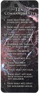 The Ten Commandments Textured Brick Look Cardstock Bookmarks, Pack of 12