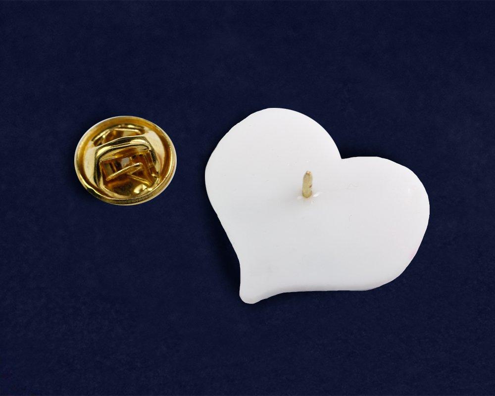 Silicone Non-Binary LGBTQ Pride Heart Pins