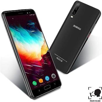 Telefonos Moviles Libres 4G, Smartphone Baratos de 16GB ROM 5.5Pulgadas Android 9.0 Quad Core 4800mAh Batería Moviles Libres Baratos Dual SIM Cámara 8MP Teléfono Móvil Face ID(Negro): Amazon.es: Electrónica