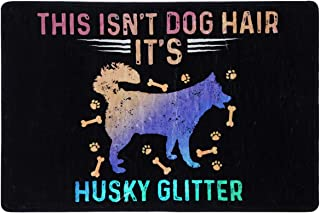 This isn't Dog Hair Funny Husky Doormat Mat Flannel Rug for Front Entrance Indoor Bedroom - Non Slip Back Doormat for Offi...