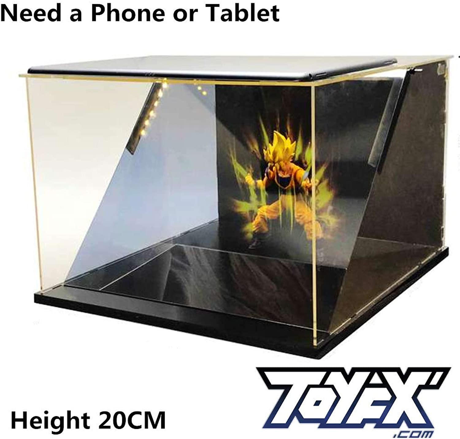 Biaobiaoc   ToyFX 5D Anime Display Case Super Film Special Effects Box Action Figure Model Toy, durchsichtig, Standard
