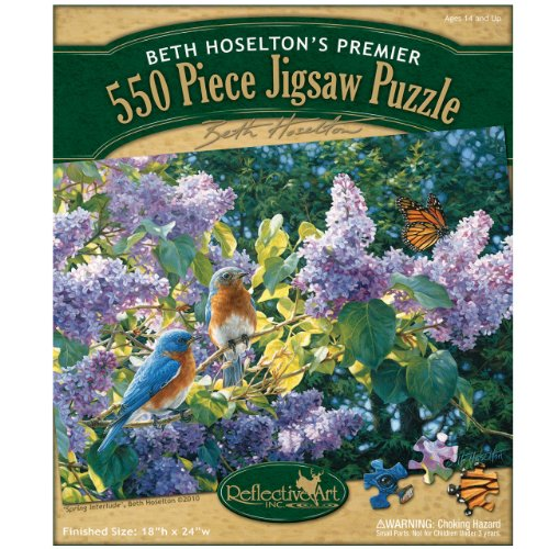 Reflective Art Spring Interlude Jigsaw Puzzle, 550-Piece