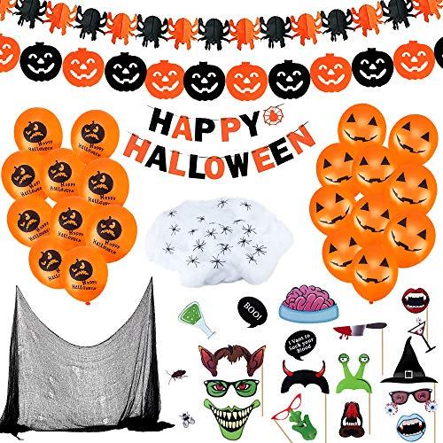CENOVE 65Piezas Juego de Decoración de Halloween Accesorios