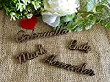 Small Wooden Place Cards Wood Calligraphy Plate Names Personalized Laser Cut Names Place Name Setting Custom Boho Wedding Sign Rustic Tag Vintage Bohemia Decorations Elegant Escort Card Birthday Party