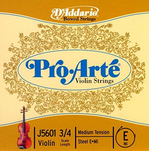 D'Addario J5601 3/4M - Cuerda para violín en Mi, 3/4 (tensión media)