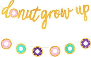 Glitter Donut Banners Donut Grow Up Banner Donut Party Garland Glitter Donut Grow Up Banner Grow Up Backgound String Happy Birthday Party Supplies Wall Decorations