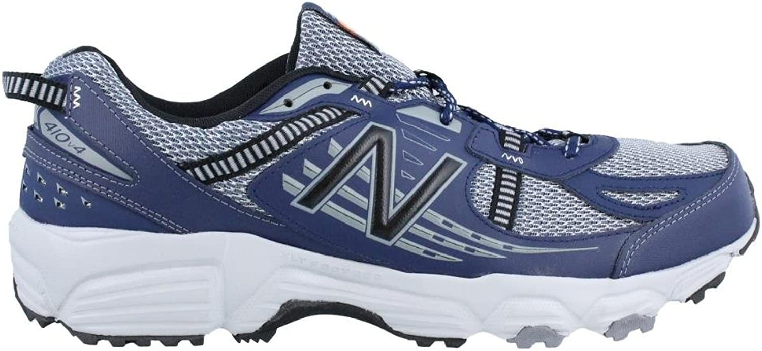 New Balance Men's MT410SN4 Trail shoes, Grey Navy (8.5 (4E wide))