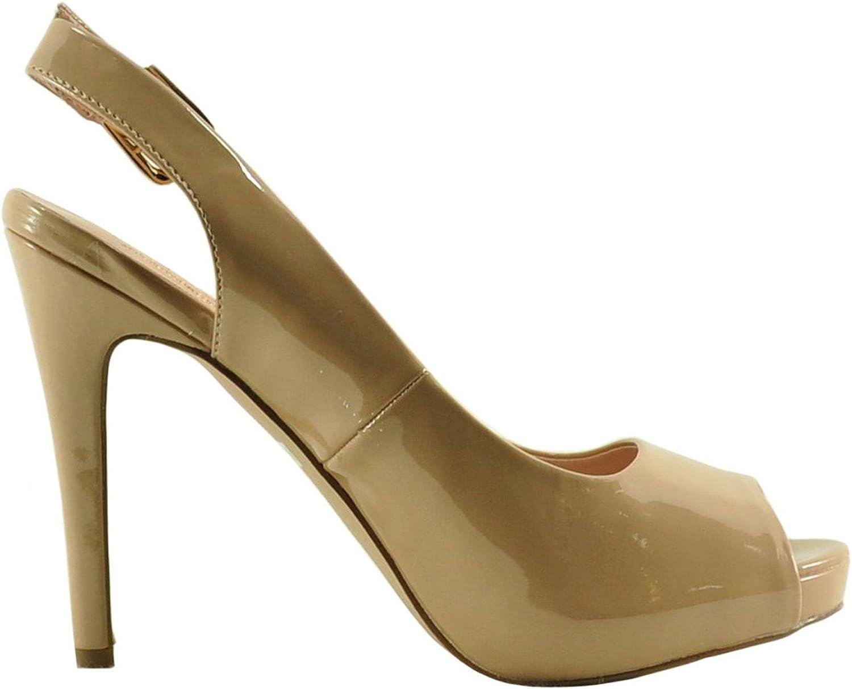 Blossom A-Ariana-1 Women's Peep Toe Sling-Back Heels