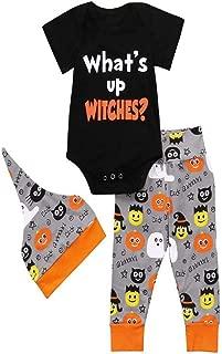 iLOOSKR Infant Baby Girls Boys Fashion Letter Printing Romper Jumpsuit Halloween Pants Outfits Set