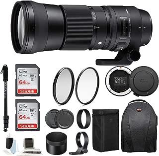Sigma 150-600mm 5-6.3 Contemporary DG OS HSM Lens for Nikon DSLR Cameras w/Sigma USB Dock + 64GB Travel Bundle