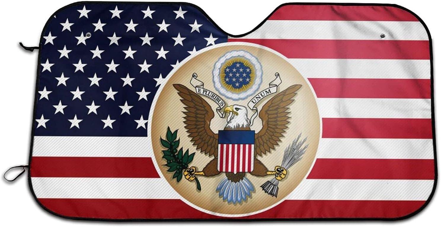 American Flag Car Windshield Curtains Sun Rays Uv Blocks Cheap mail Max 41% OFF order shopping Shade