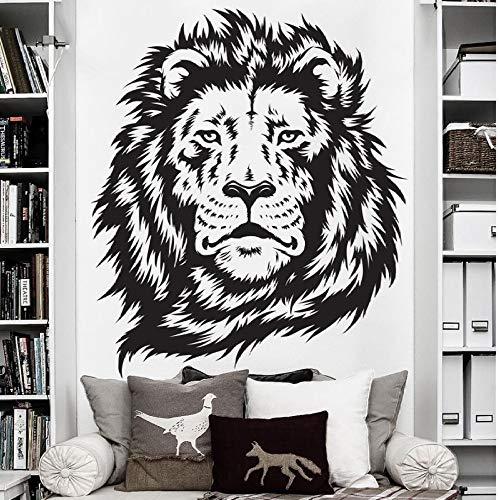 Animal Lion Etiqueta de la pared Jungle Animal Lion Etiqueta de la pared Mural Decoración para el hogar Dormitorio Animal Etiqueta de la pared Etiqueta de la pared42x49cm