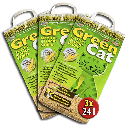 Green Cat 6x12 =72 Liter GreenCat ÖKO-Plus NATURSTREU S KATZENSTREU - Best STREU CornCat innerhalb Deutschlands (außer Inseln)