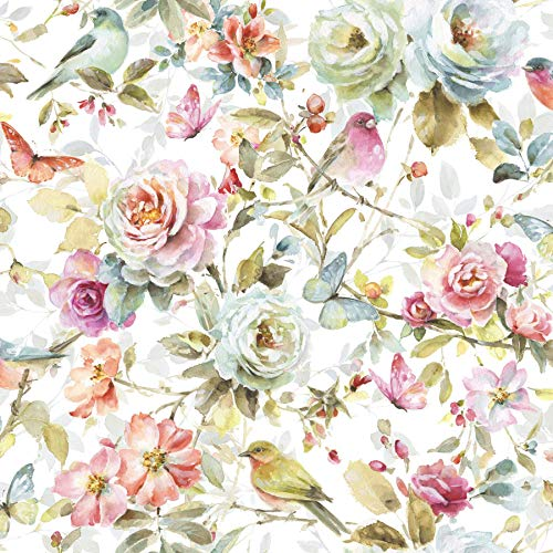 Watercolor Garden Cotton Fabric by The Yard