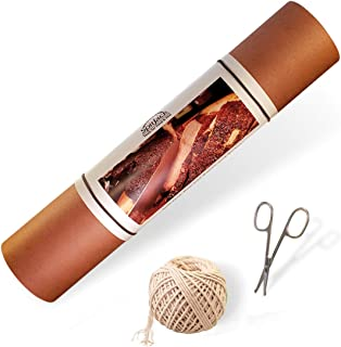SpitJack Pink Butcher Paper, Kitchen Utility Scissors, and Cooking Twine Bundle. 24 Sheets of 16 x 30 Inch Peach BBQ Butchers Paper, 185 Feet of Cotton Wrapping Twine and a Pair of Safety Snip Shears