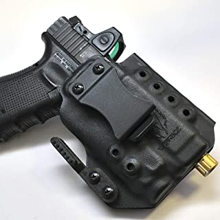 Werkz M6 Modular Holster for Glock 19 / 19x / 23/32 / 45 Gen 3/4/5 with Streamlight TLR-7, Ambidextrous, Right Hand Claw, Solid Black
