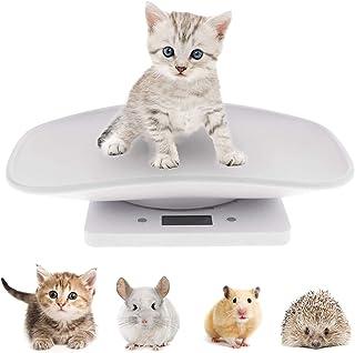 مقیاس YTDTKJ مقیاس حیوان خانگی دیجیتال مقیاس وزن LCD مقیاس الکترونیکی برای اندازه گیری کودک گربه سگ کوچک حیوانات کوچک غذای حیوان خانگی - ظرفیت تا 10 کیلوگرم / 22 پوند (سفید)