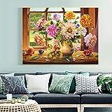 N/A 5D-DIY-Full Diamond Painting, Full Painting Diamond Bordado para la Venta Arreglo Floral, Kit de Punto de Cruz, Mosaico, Decoración del hogar-40X30Cm