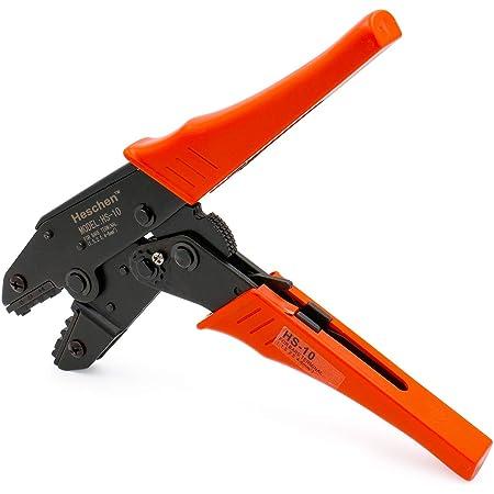 6/mm/² Heschen /à cliquet Pince /à sertir Pince Hs-03b Bornes non isol/ées et r/éceptacle /à sertir outils /à utiliser pour 1,5 Jaune 15/–10/AWG