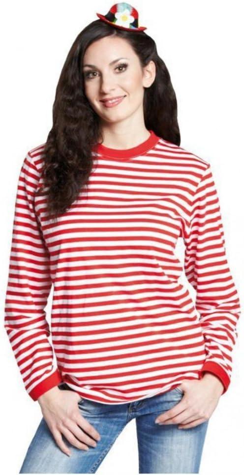 Rubies Camisa a Rayas de Manga Larga con Rayas Rojas y ...
