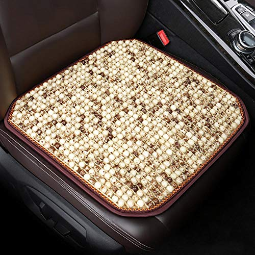 48x48cm Holz Perlen Sitzbezug, Massage Cool Sitzkissen, Auto Massage Cool Comfort Kissen für Auto Bürostuhl Sitze