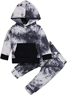 Baby Girl Boy Clothes Long Sleeve Hoodie Sweatshirt Floral Pants with Headband Outfit Sets