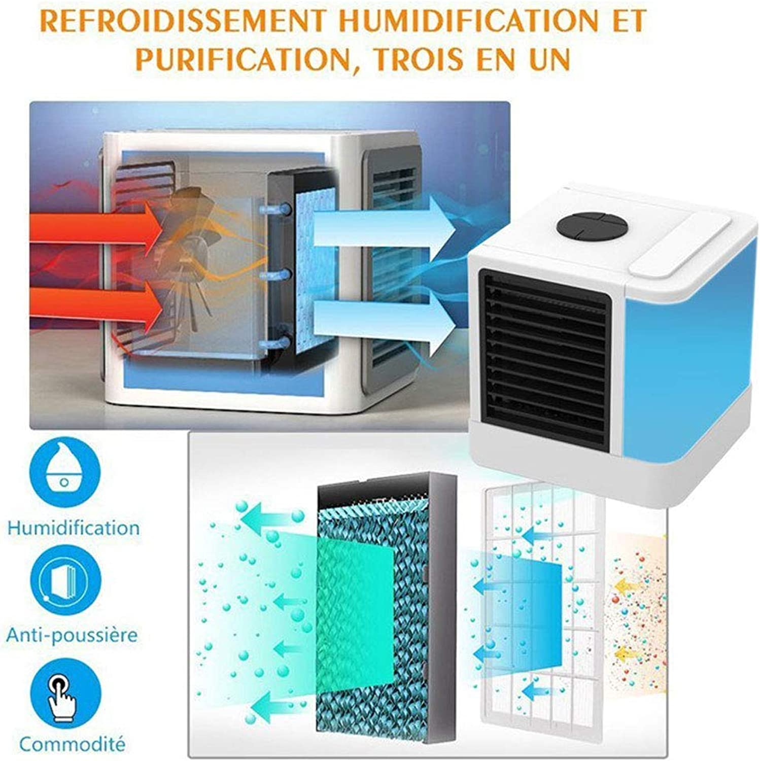 ATR Multi Functional Small air Cooler, USBPowered Seven color Variable hot Weather That
