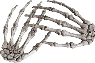 Halloween Skeleton Hands - Realistic Life Size Severed Plastic Skeleton Hands for Halloween Props Decorations, 2 Pieces(Right & Left)