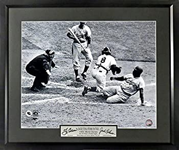 "Jackie Robinson & Yogi Berra ""1955 WS Stealing From Yogi""16x20 Framed Photo  Engraved Series"