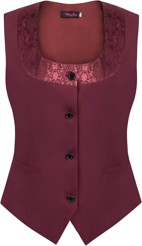Women Plus Size Waistcoat Renaissance Corset Bodice Fully Lined 4 Button Suit Dressy Vest