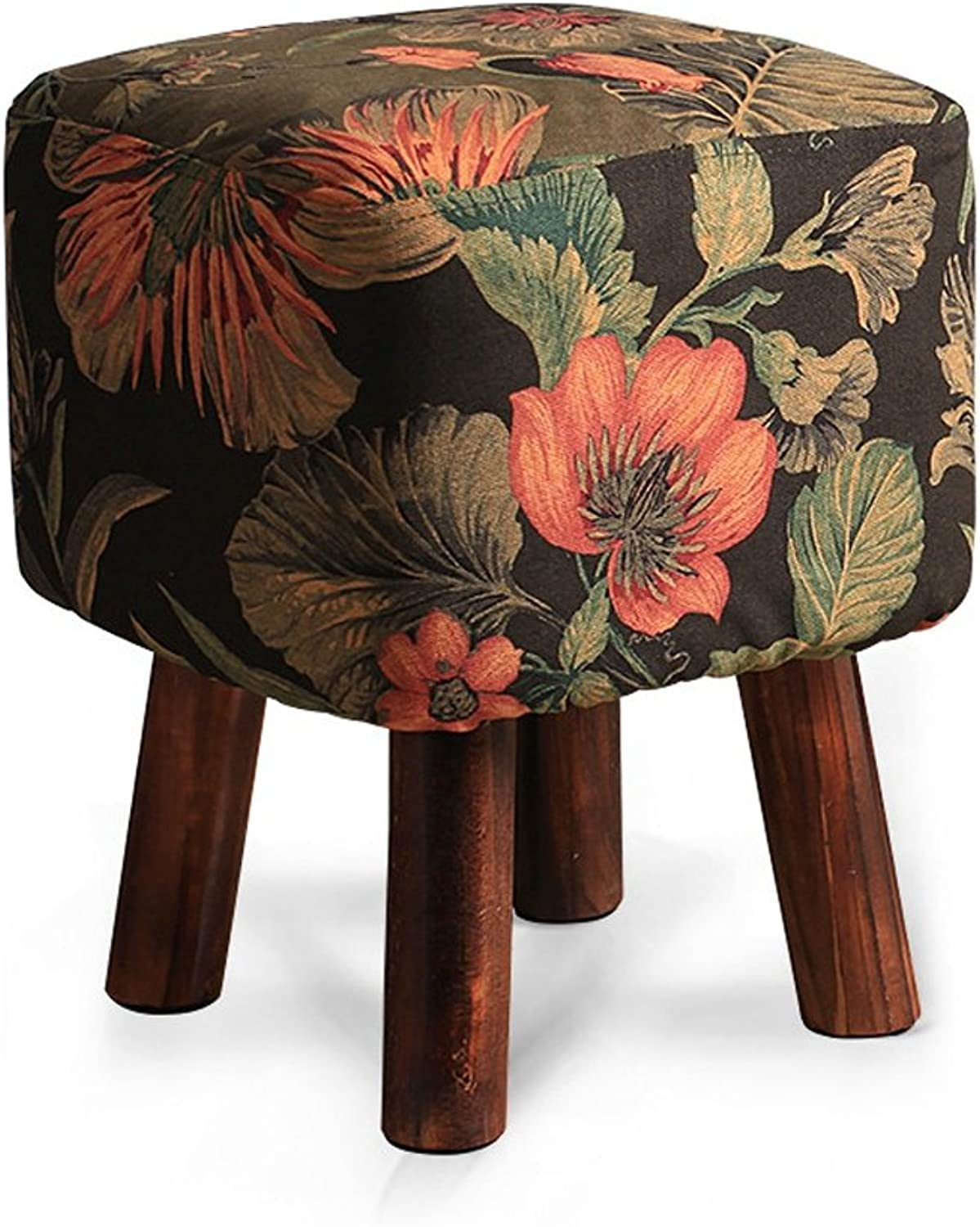 ALUS- Stool Solid Wood Stool Change shoes Stool Round Stool Sofa Small Bench Fashion Ideas Coffee Table Pier
