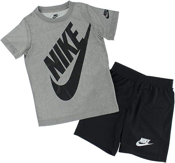 lección Prominente Personalmente  Nike Dri Fit 66F024-023 - Juego de camiseta y pantalones cortos para niño  (2 piezas), color negro: Amazon.com.mx: Ropa, Zapatos y Accesorios