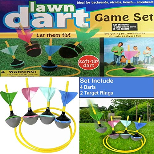 True Face Dardos de césped juego de jardín al aire libre verano playa niños diversión de la familia juguete de actividad