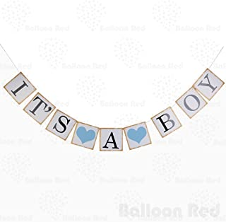 IT is A BOY Paper Garland Bunting Banner Christening Baby Shower Garland Decoration Birthday Party Favors Photo Prop