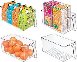 mDesign boite de rangement (lot de 4) – boite pour frigo idéale pour la cuisine, le placard ou le frigo – bac alimentaire ...
