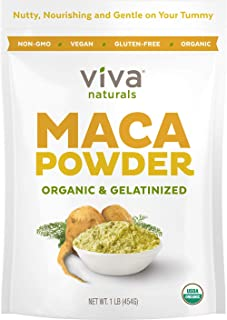 Organic Maca Powder - 16 Ounces (1 LB) - Gelatinized Maca Root Powder for Enhanced Absorption & Digestion, Certified Organ...