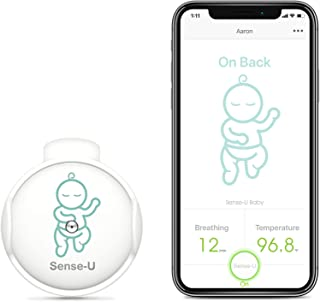 (2021 New Model) Sense-U Baby Breathing Monitor with Movement Temperature Smart Sensors: Tracks Baby's Breathing, Rollover...