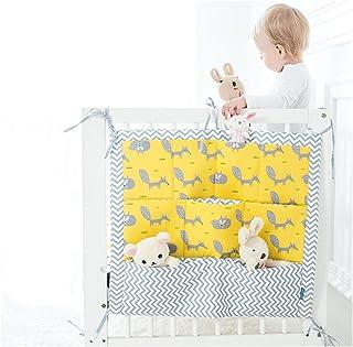 Cama Colgando Bolsa de Almacenamiento, Práctico Organizadores de la cama del Bebé con 9 Bolsillos, Cuarto de los Niños Uni...