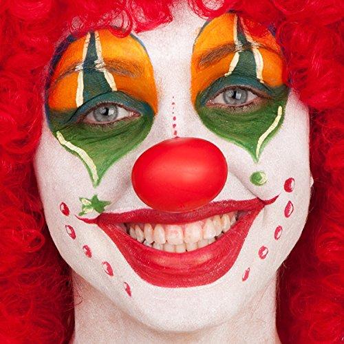 Carnival Toys 3 NASI da Clown in Morbida Gomma Rossa