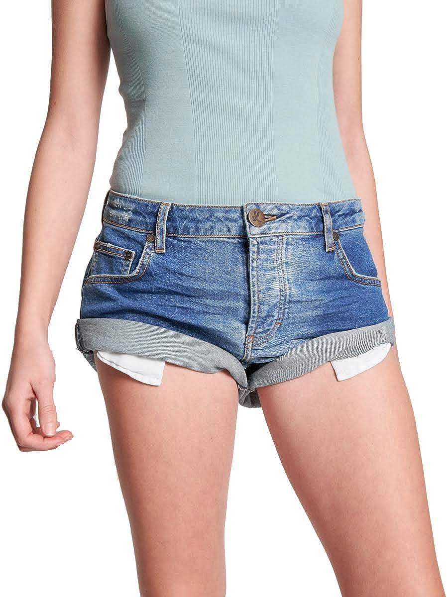 One Many popular brands Teaspoon Soho Blue Latest item Bandits - Cut Shorts Off Low-Waist Denim