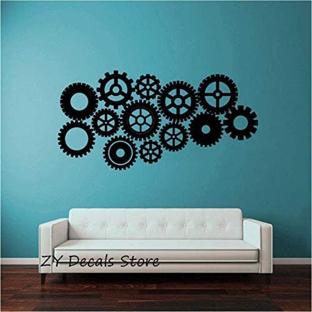 YUANCAN Creative Art Popular products Wall Stickers Gears Vin Genuine Steampunk Decal DIY
