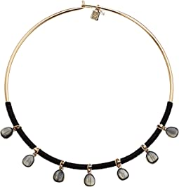 Stone Round Wire Collar Necklace