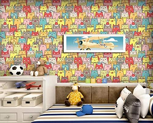 Muurafbeelding achtergrondfoto aangepaste kinderen behang Cartoon Bos Fotobehang Kinderkamer bos vogels bloemen behang woonkamer wooncultuur 200 * 140cm