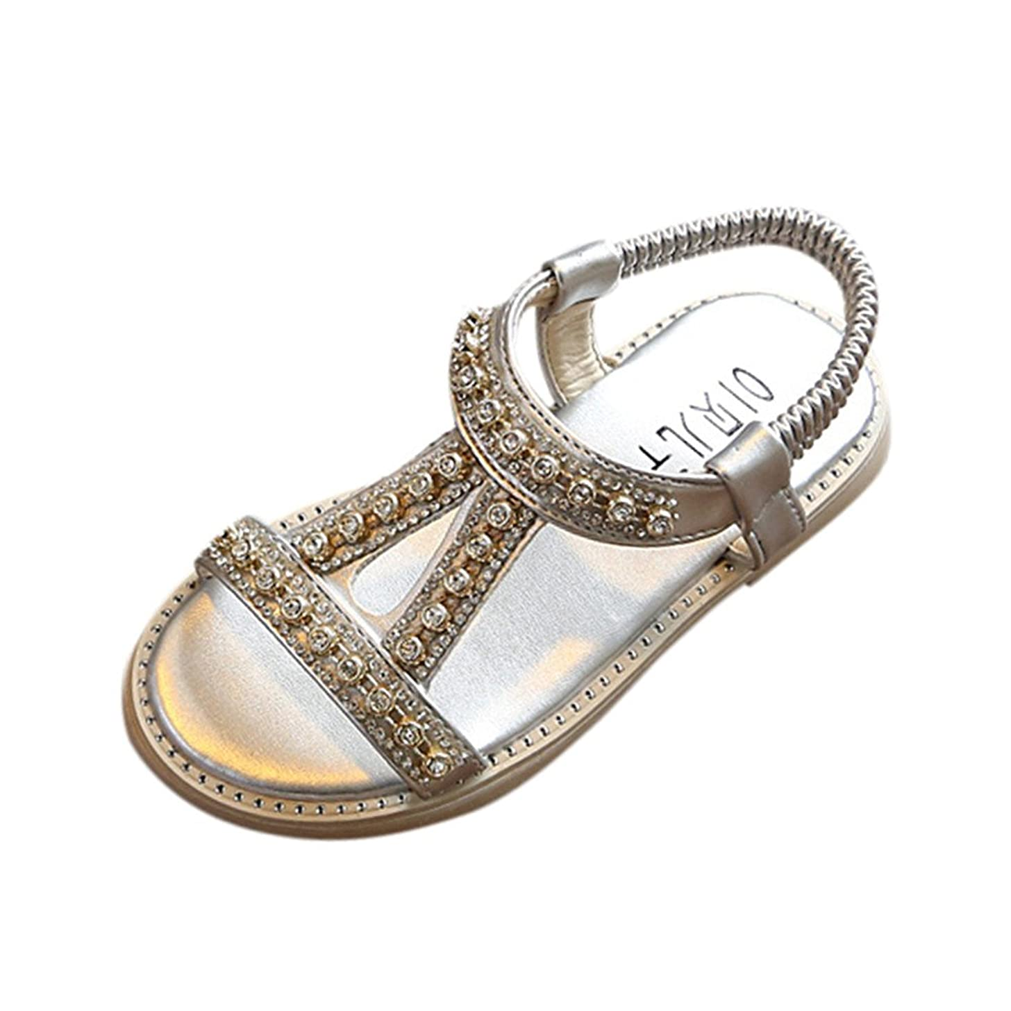 New in Respctful? Summer Boho Kids Baby Girls Sandals Crystal Beach Sandals Princess Roman Shoes