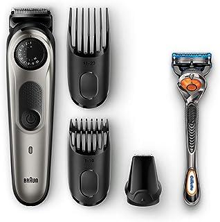 Braun Beard trimmer BT5060 with precision dial, 3 attachments and Gillette Fusion5 ProGlide razor.