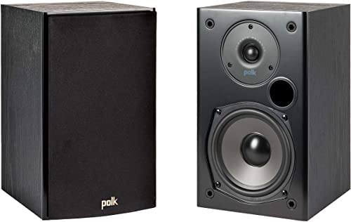 Polk Audio T15 100w Home Theater Bookshelf Speakers (Pair) - Premium Sound at a Great Value | Dolby and DTS Surround ...