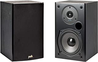 Polk Audio T15 100w Home Theater Bookshelf Speakers (Pair) - Premium Sound at a Great Value | Dolby and DTS Surround | Wal...