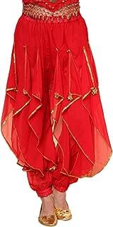 Belly Dance Harem Pants Tribal Arabic Halloween Pants with Gold Trim US0-14