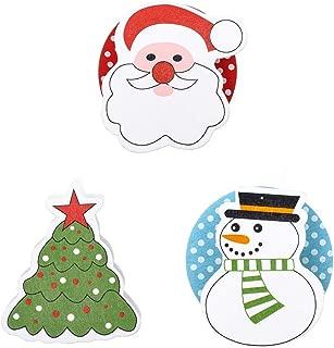 LongMao 3PCS Photo Wood DIY Craft Christmas Tree Clothespin Xmas Ornament Christmas Clip Garment Pegs Memo Paper Clips(3PCS Xmas Cap&Bell&Socks)